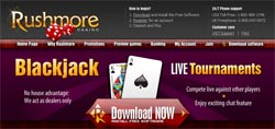Play Blackjack at Rushmore Casino!