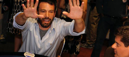 "Mr. Affleck, famous for having been ""asked to leave"" the Hard Rock Casino in Vegas"