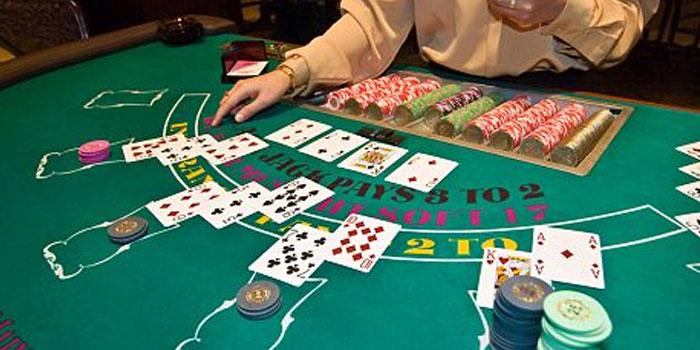 Stiff hand in blackjack