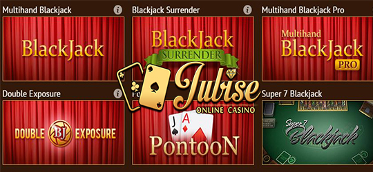 Jubise Casino offers 12 outstanding Blackjack games along with exciting bonuses