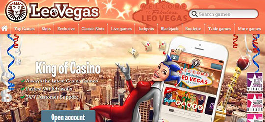 leo vegas great bonuses