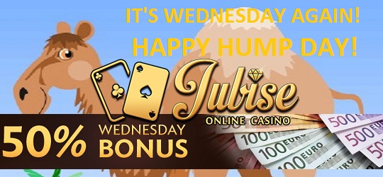 Wednesday Jubise Casino bonus code