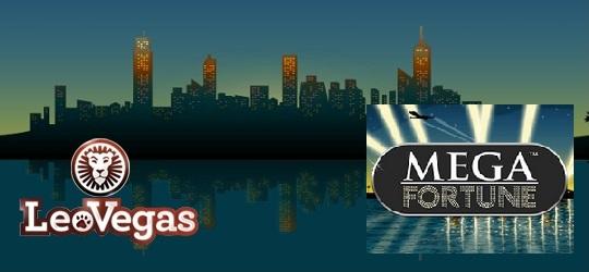 LeoVegas Casino Mega Fortune slots jackpot