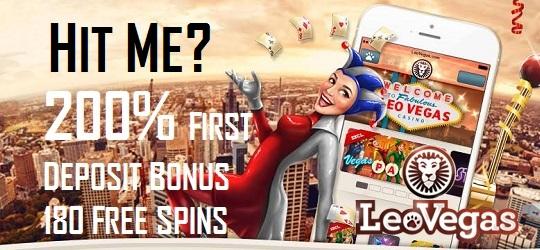 200% First Deposit multiplier at Leo Vegas