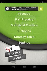 blackjack trainer lite application