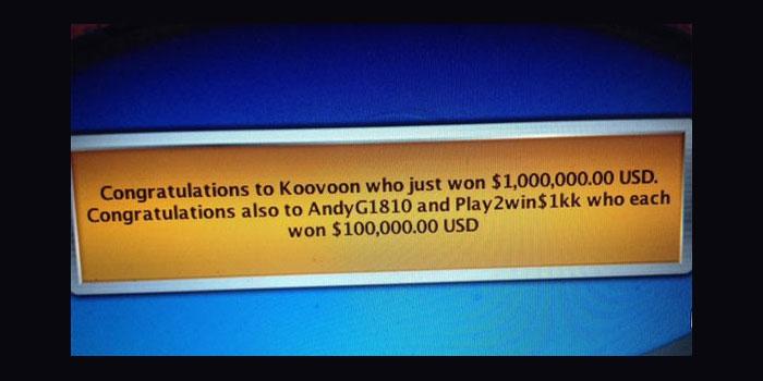 pokerstars koovoon winner