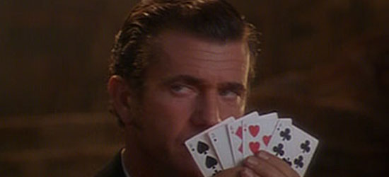 mel gibson losing at blackjack