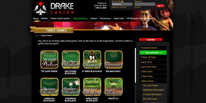 blackjack at Drake Casino