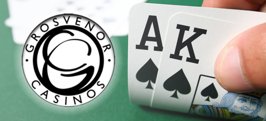 Huge Blackjack Win on Grosvenor Casino's Ace King Suited blackjack side bet