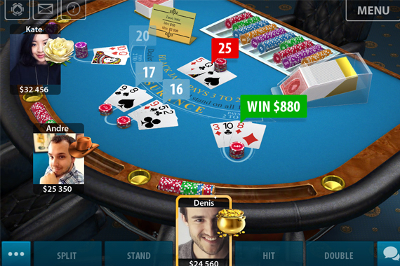 3D Multiplayer Blackjack for iPhone and Android by KamaGames