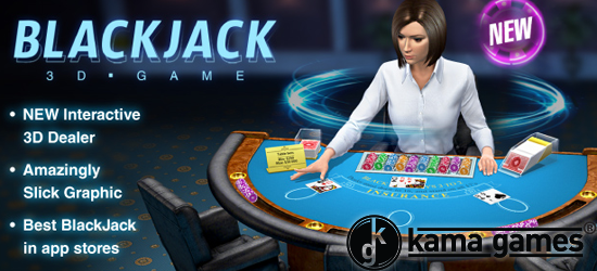 New 3D Multiplayer Blackjack for iPhones and Android